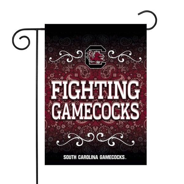 """18"""" x 13"""" Maroon and White College South Carolina Gamecocks Outdoor Garden Flag - N/A"""