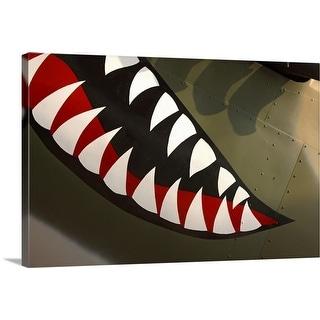 """Teeth painted on aircraft"" Canvas Wall Art"