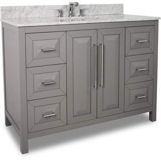 Jeffrey Alexander VAN100-48-T Cade Contempo Collection 48 Inch Wide Bathroom Vanity