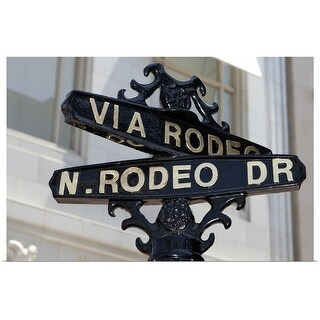 """""""Rodeo Drive, Beverly Hills sign"""" Poster Print"""