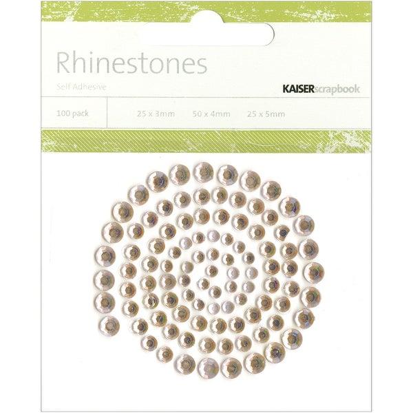 Self-Adhesive Rhinestones 100/Pkg-Champagne