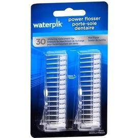 Waterpik Power Flosser Whitening Replacement Tips Mint Flavor FTW-01 30 Each
