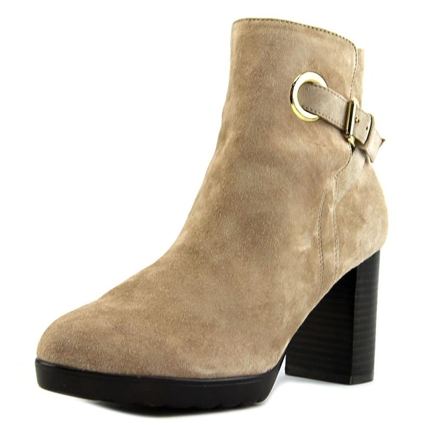 Bella Vita Zelda Women W Pointed Toe Suede Tan Ankle Boot