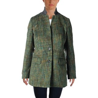 Rachel Rachel Roy Womens Two-Button Blazer Wool Blend Brushed