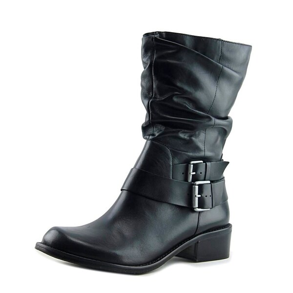Matisse Robbie Women Round Toe Leather Black Mid Calf Boot