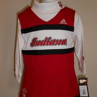 Minor Flaw Indiana Hoosiers Toddler Sizes 2T 3T Adidas 2 PC Cheerleader Set