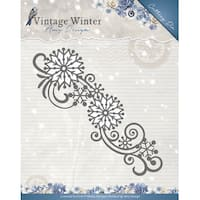 Find It Trading Amy Design Vintage Winter Die-Snowflake Swirl Border