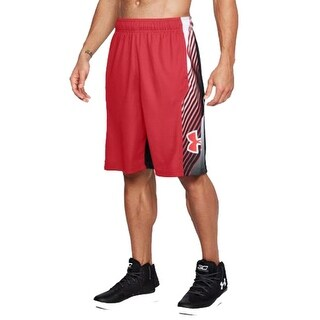 "Under Armour 1305730 Men's Vector 11"" Shorts, Red/Red, Small"