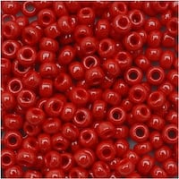 Toho Round Seed Beads 8/0 45 Opaque Pepper Red 8 Gram Tube