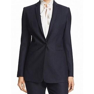 Elie Tahari NEW Blue Women's Size 10 Wool Blend Single Button Blazer