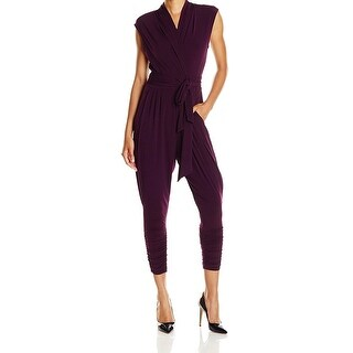 Catherine Malandrino NEW Purple Women's Size Small S Cropped Jumpsuit