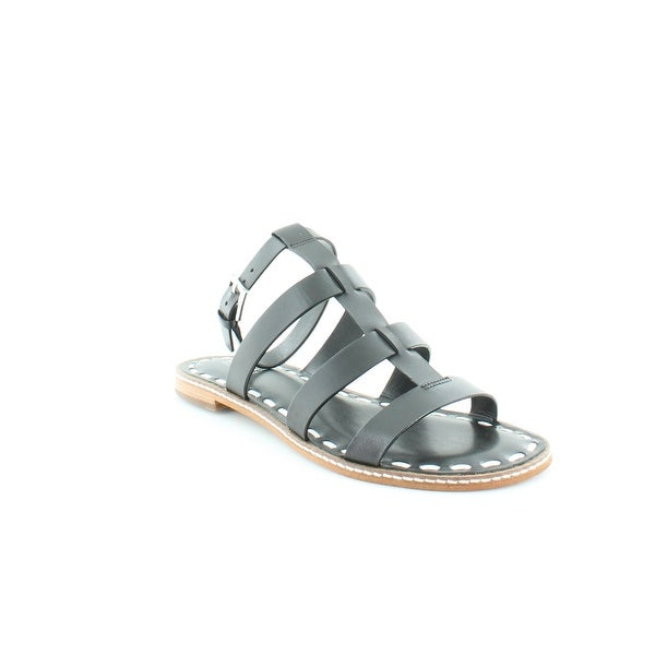 Michael Kors Gladiator Fallon Sandal Women's Sandals & Flip Flops Blk / Optic Wht - 7
