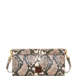Dooney & Bourke City Python Crossbody Clutch (Introduced by Dooney & Bourke at $198 in Sep 2016) - Slate