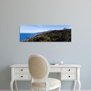 Easy Art Prints Panoramic Images's 'Trees on a coast, Oregon Coast, Oregon, USA' Premium Canvas Art