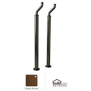 """Rohl U.6388 Perrin and Rowe Set of 32"""" Floor Standing Supply Unions"""