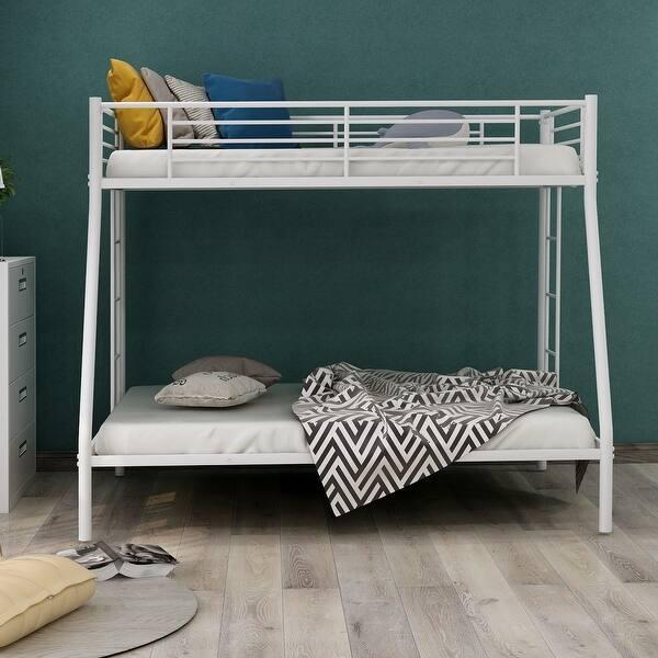 Nestfair Twin Over Full Metal Bunk Bed Overstock 32166549
