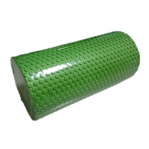 Blue Yoga Gym Pilates EVA Soft Foam Roller Floor Exercise Fitness Trigger 30x14.5cm - Green