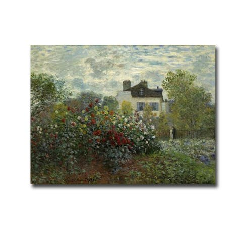 Artist's Garden at Argenteuil by Claude Monet Gallery Wrapped Canvas Giclee Art (18 in x 24 in)