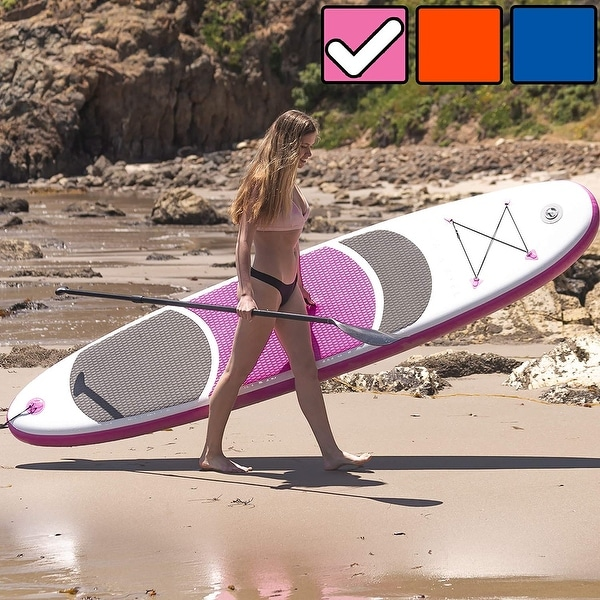Crew Axel Inflatable Stand Up Paddle Board SUP Set 10 x 30 x 6 - Paddleboard for Kids & Adults Beginners and Advanced Riders. Opens flyout.