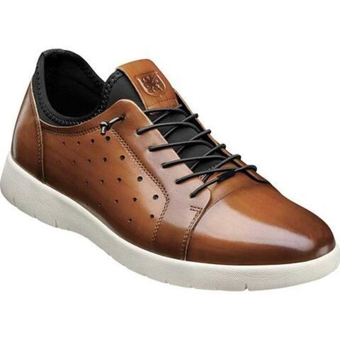 Stacy Adams Men's Halden Cap Toe Sneaker Cognac Burnished Smooth Leather