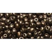 6/0 Matte Brown E-Beads - Jewelry Basics Glass Seed Beads 1.1Oz