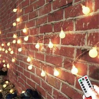 33FT Battery Powered Globe String Lights with Remote - Medium