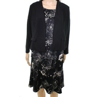Antthony NEW Black Womens P3X Petite Plus 4Pc Jacket Top Skirt Pant Sets