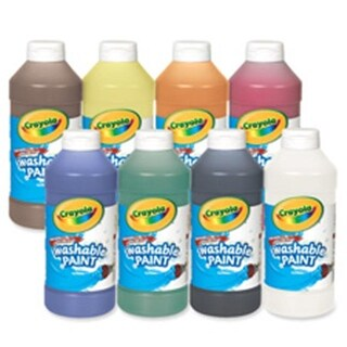 Crayola Crayola Washable Paint, Squeeze Bottle, 16 Oz,