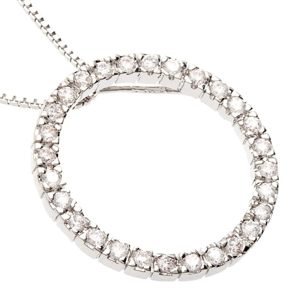 "Eternity Circle CZ Necklace by Simon Frank Designs (18"" Chain)"