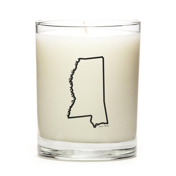 Custom Gift - Map Outline of Mississippi U.S State, Vanilla