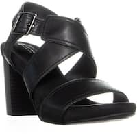 GB35 Jenett Block Heel Ankle Strap Sandals, Black - 8.5 us