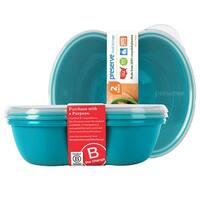 Preserve Food Storage Sandwich Container 25 oz., Aquamarine 2 count