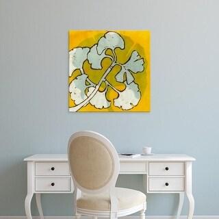 Easy Art Prints Andrea Davis's 'Gold Batik Botanical IV' Premium Canvas Art