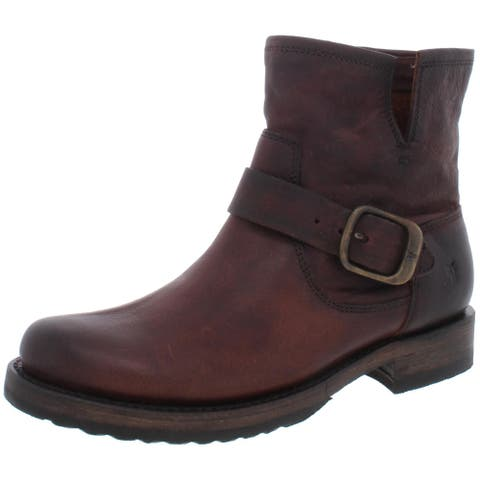 Frye Womens Veronica Booties Leather Slip On - Redwood - 5.5 Medium (B,M)
