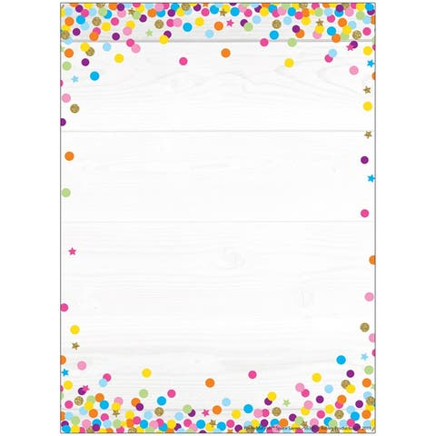 """Smart Poly® Single Sided PosterMat Pals® Space Savers, Blank Confetti Style, 13"""" x 9.5"""""""