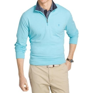 Izod Mens 1/2 Zip Sweater Knit Signature