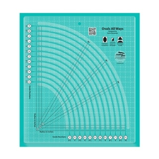 """Link to Creative Grids Ovals All Ways Quilt Ruler - 0.25"""" x 8"""" x 9"""" Similar Items in Sewing & Quilting"""