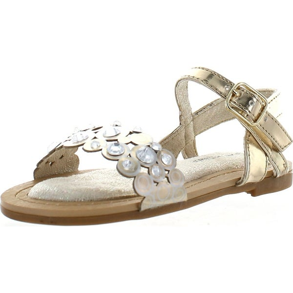 Stuart Weitzman Girls Carmia Moonring Fashion Sandals - champagne gold/metallic