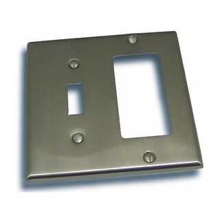"Residential Essentials 10825 4.5"" X 4.5"" Double Toggle and Rocker Switch Plate Featuring a Rustic / Country Theme"