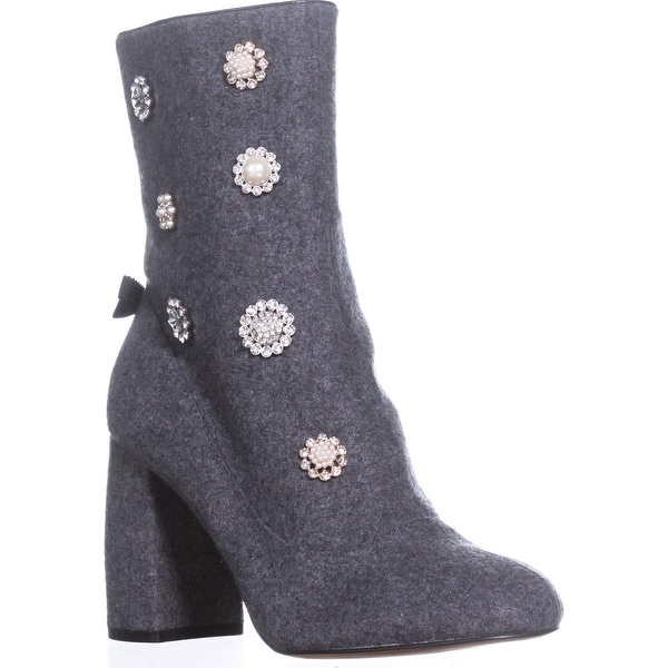Nanette Lepore Linette High Tope Ankle Boots, Grey - 8 us