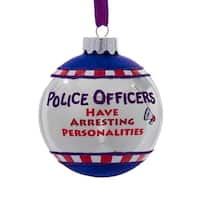 "3"" Red Glittered ""Fireman Kick Ash"" Decorative Christmas Ball Ornament"