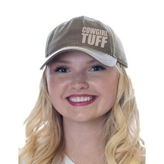 Cowgirl Tuff Western Hat Womens Hook Loop Mesh Trucker Tan S00918