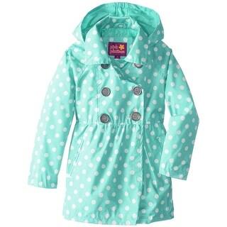 Pink Platinum Girls 4-6X Dot Trench Coat