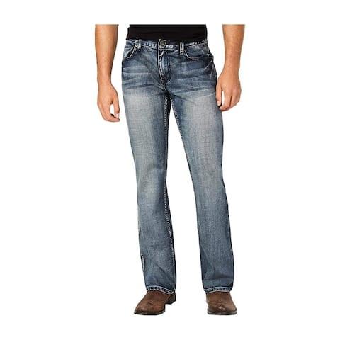I-N-C Mens Copenhagen Modern Boot Cut Jeans, Blue, 40W x 30L