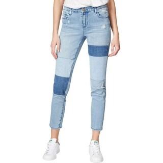 Rachel Rachel Roy Womens Skinny Jeans Patchwork Mid Rise - 30