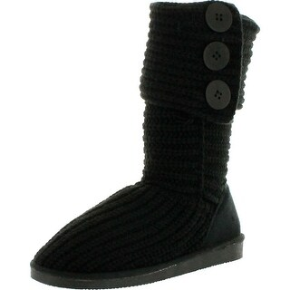 Mark And Maddux Womens Tom-05 Yarn-Knitted Button Boots