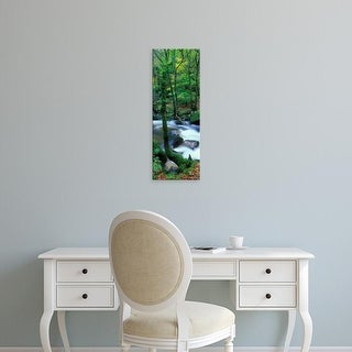 Easy Art Prints Panoramic Images's 'River flowing, River Dart, Dartmoor National Park, Devon, England' Canvas Art