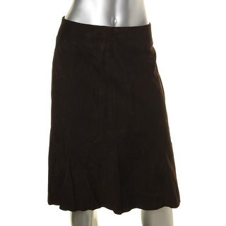Eileen Fisher Womens Petites A-Line Skirt Suede Lined - pp