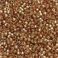 Miyuki Delica Seed Beads 11/0 - Gold Lustered Rose DB102 7.2 Grams