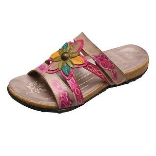 Women S Susan Mango Orchid Painted Leather Sandal Purple